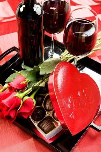 Wine Chocolate and Roses