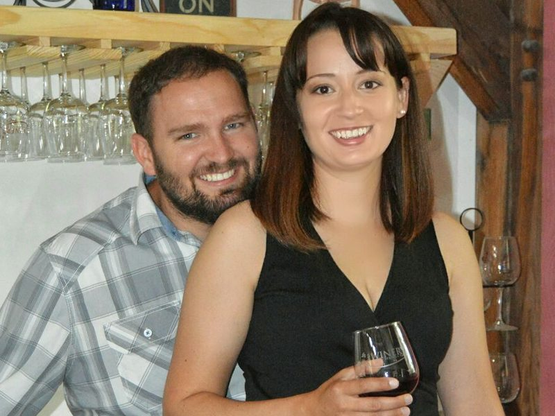 Winemakers Nikki Riddle and Michael Coombs