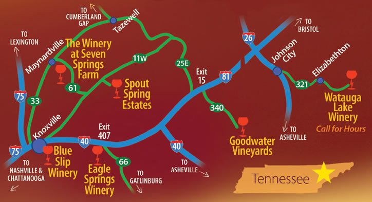 Thunder Road Wine Trail East Tennessee The Winery at Seven Springs