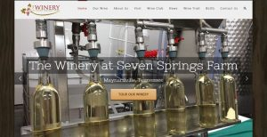 New Web Site for The Winery at Seven Springs Farm