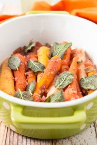 Recipe Wine Braised Rainbow Carrots with Sage The Winery at Seven Springs Farm Moscato