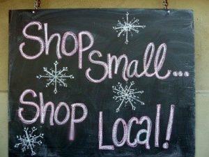 Shop small, shop local